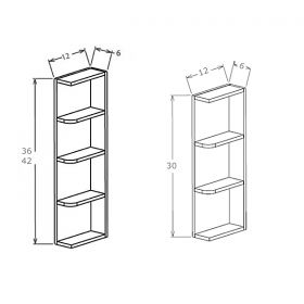 Shaker Gray Open End Shelves