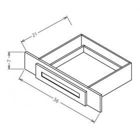 Shaker White Vanity Knee Drawer