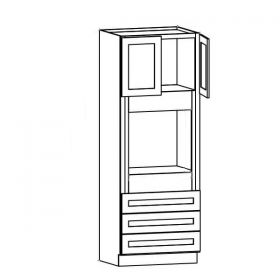 Shaker Gray Oven Cabinets
