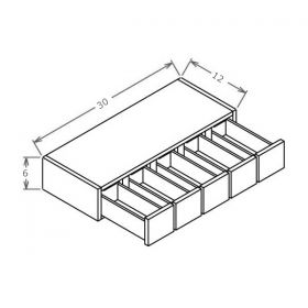 Shaker Gray Wall Spice Drawer